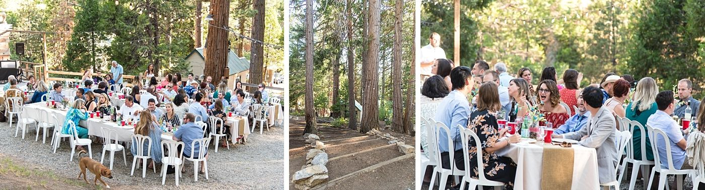 shaver lake village hotel California destination wedding reception