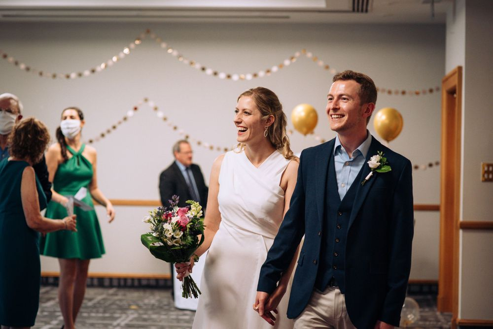 Pukrup Hall wedding by Zara Davis Photography, Gloucestershire just married walking