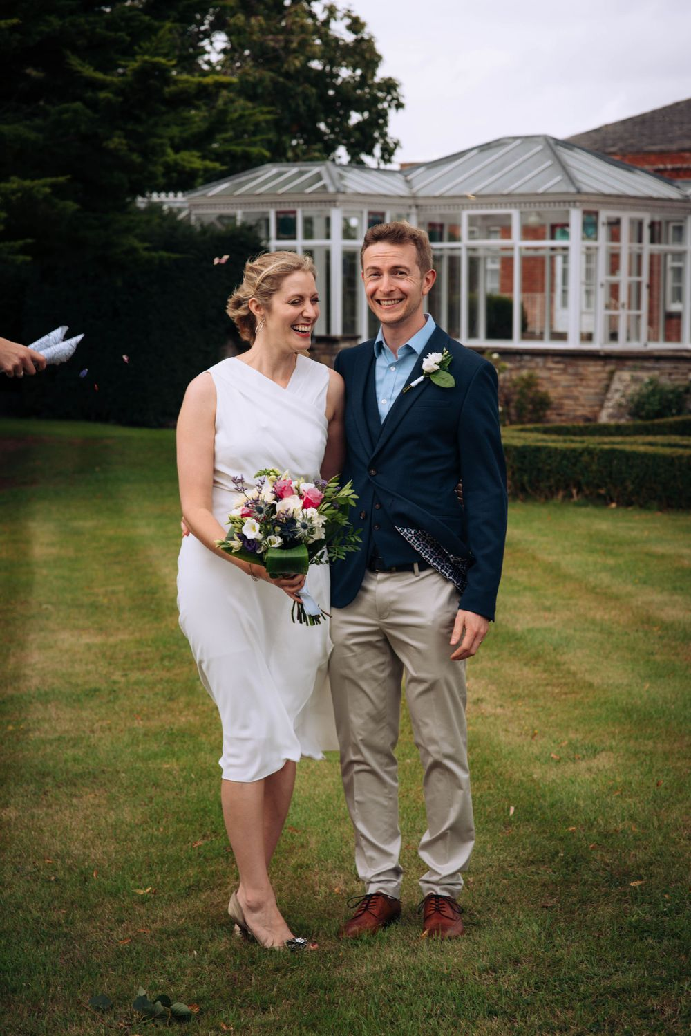 Pukrup Hall wedding by Zara Davis Photography, Gloucestershire windy day