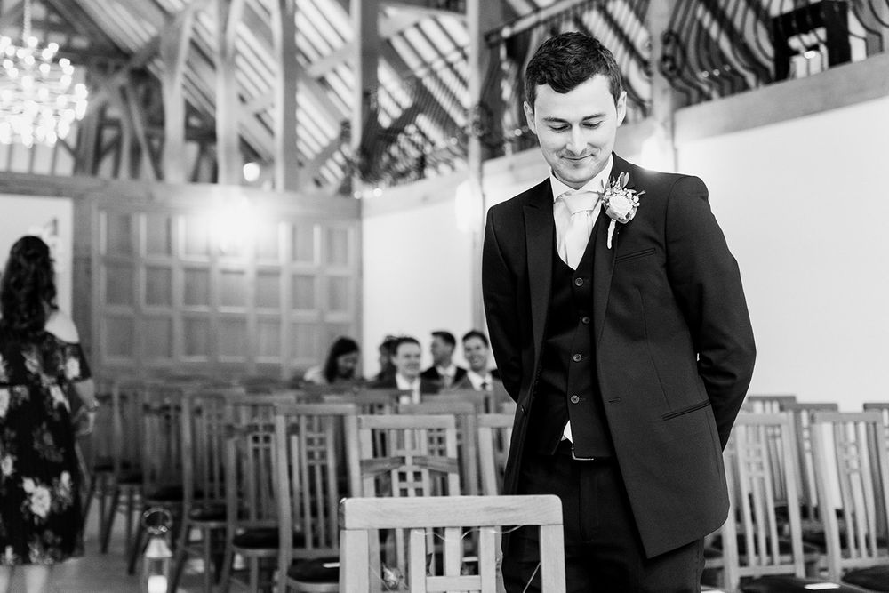 groom waiting for ceremony to start