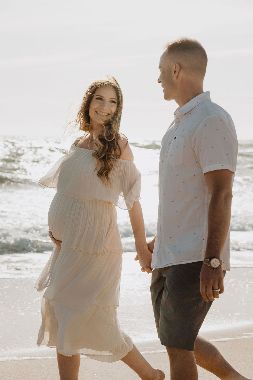 santa cruz maternity photoshoot portrait photographer davenport beach couples