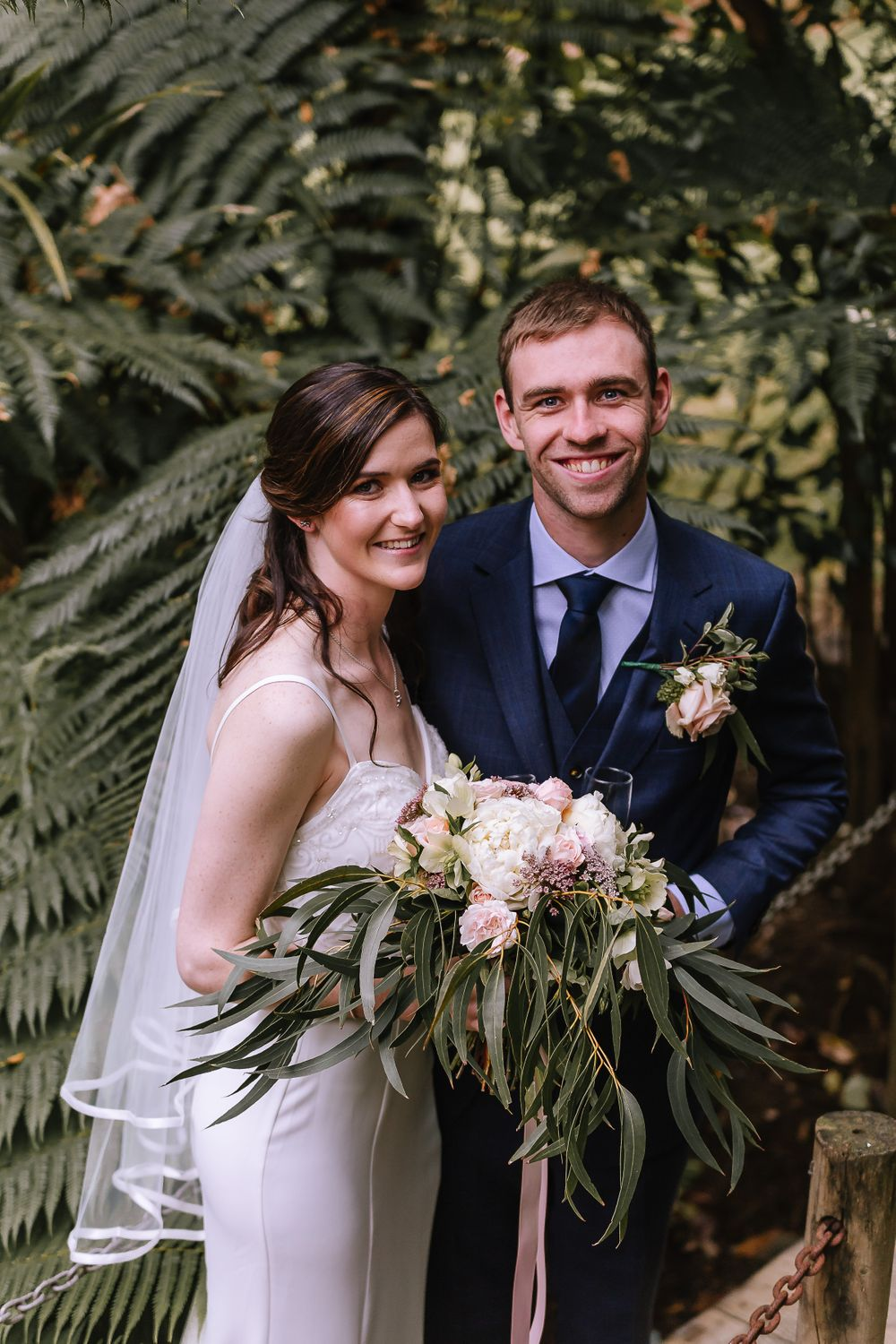 Leah and Grant Bridal Portrait - Hush Boutique Coromandel