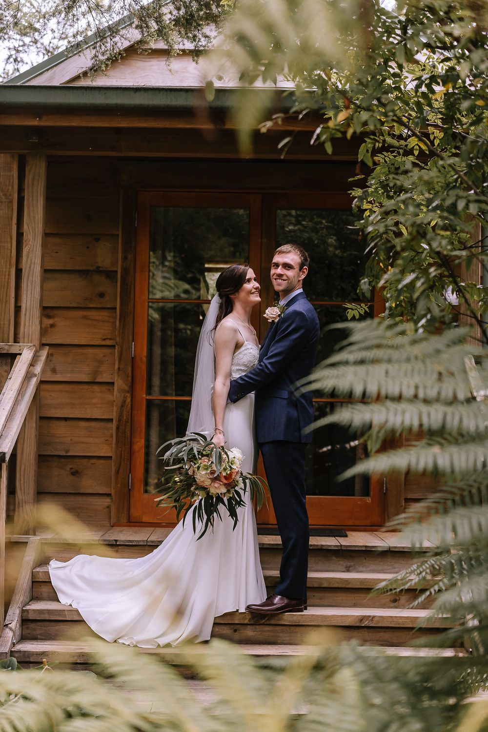 Leah and Grant Bridal Cabin - Hush Boutique Coromandel