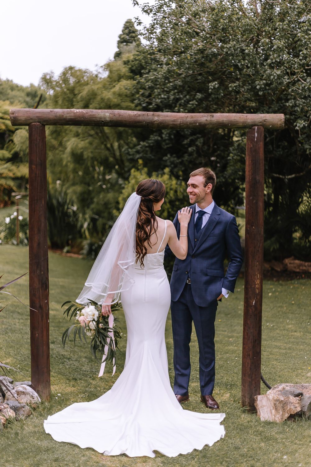 Leah and Grant Bride Dress - Hush Boutique Coromandel