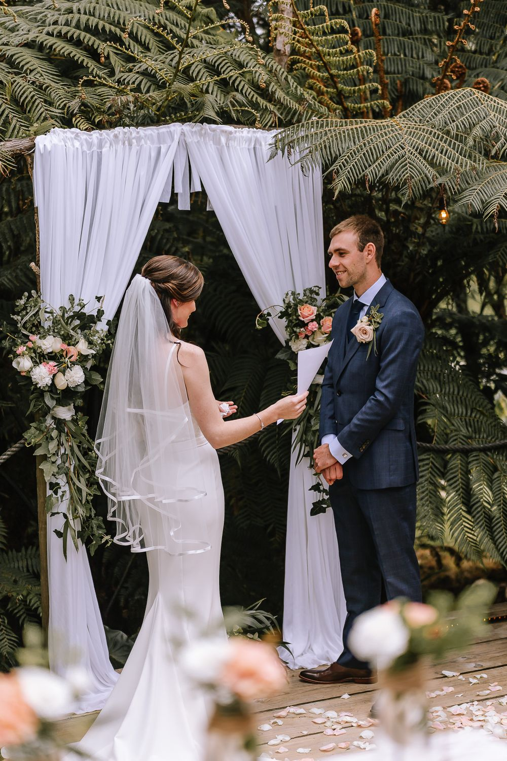 Leah and Grant Vows - Hush Boutique Coromandel