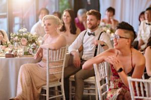 wedding guest reaction during wedding speech
