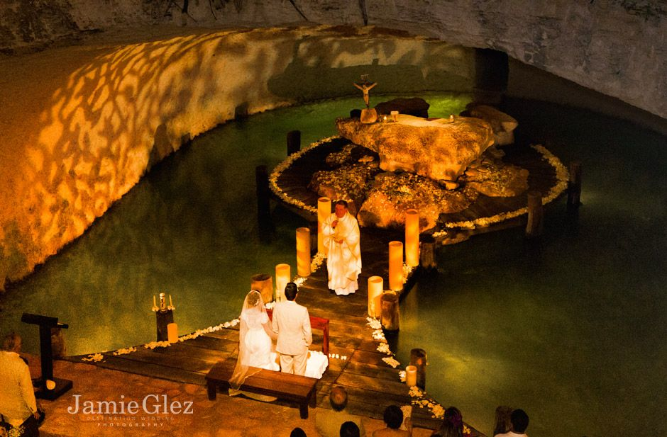 Xcaret chapel wedding photos 3