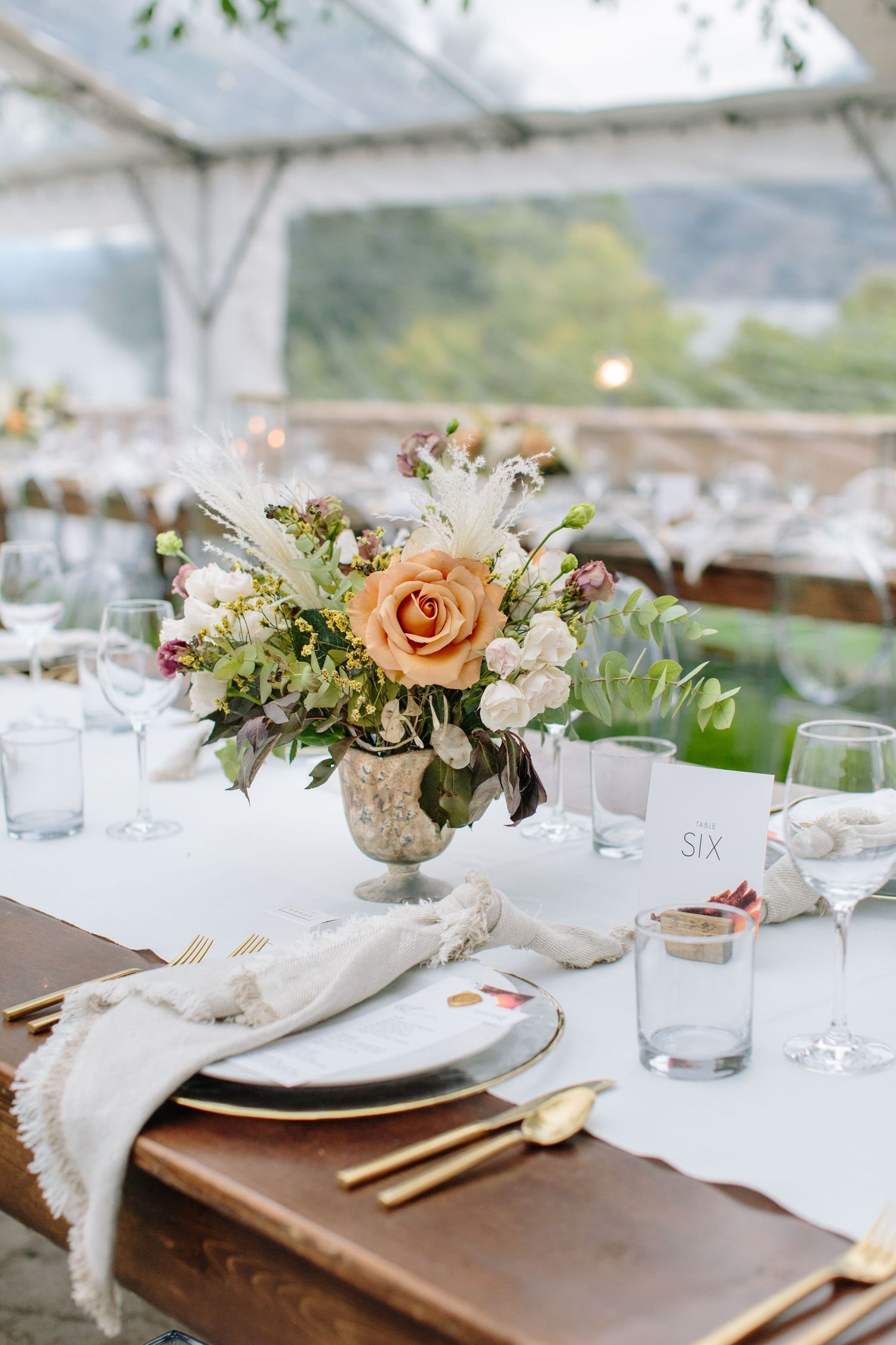 okanagan wedding reception details