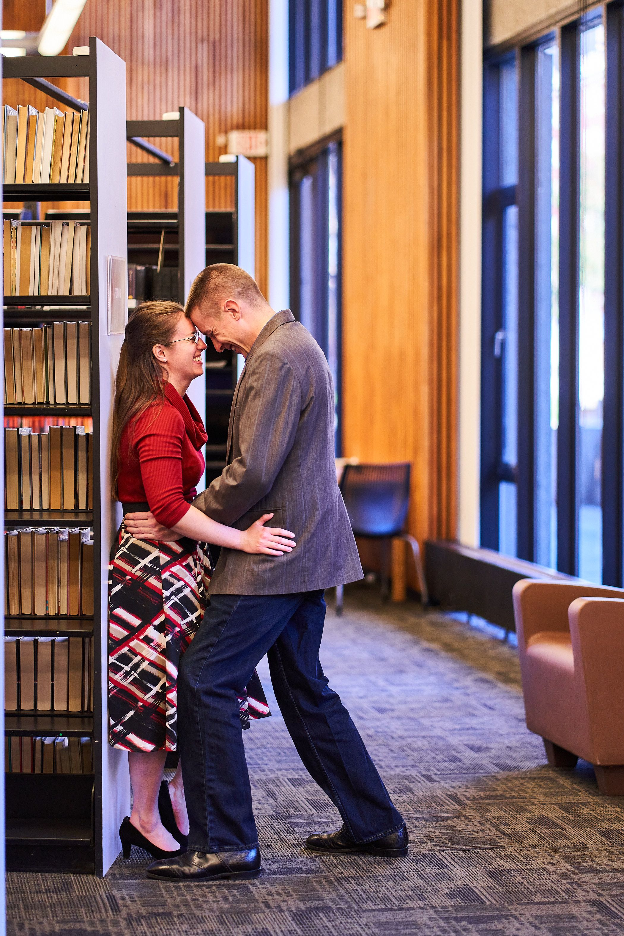 Kristin and Jessie in Louisville Public Library in downtown Louisville, Kentucky.