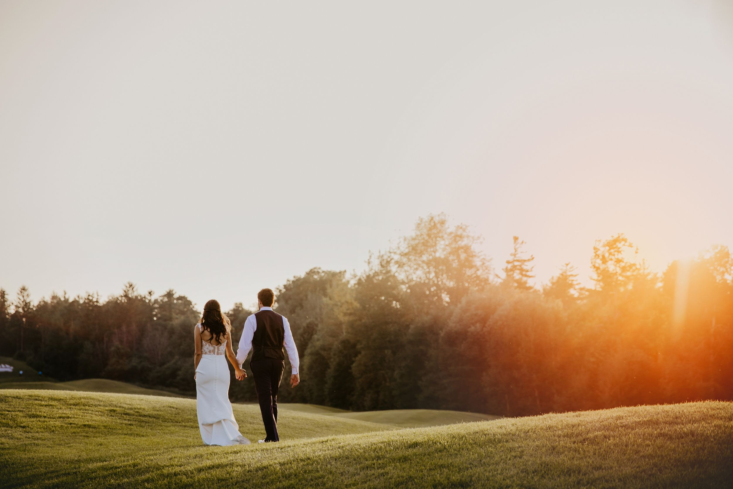 Whistle Bear Golf Club Sunset Wedding Photos