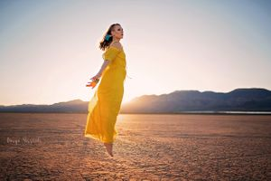 Nevada Dry Lake Bed session with Katya