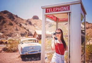 Julia Phone booth in Nelson Ghost Town