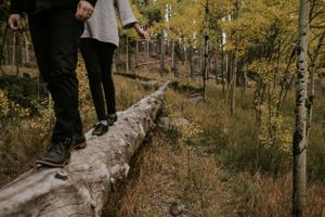 couple-walking-on-log-colorado-raelyn-ramey-photography