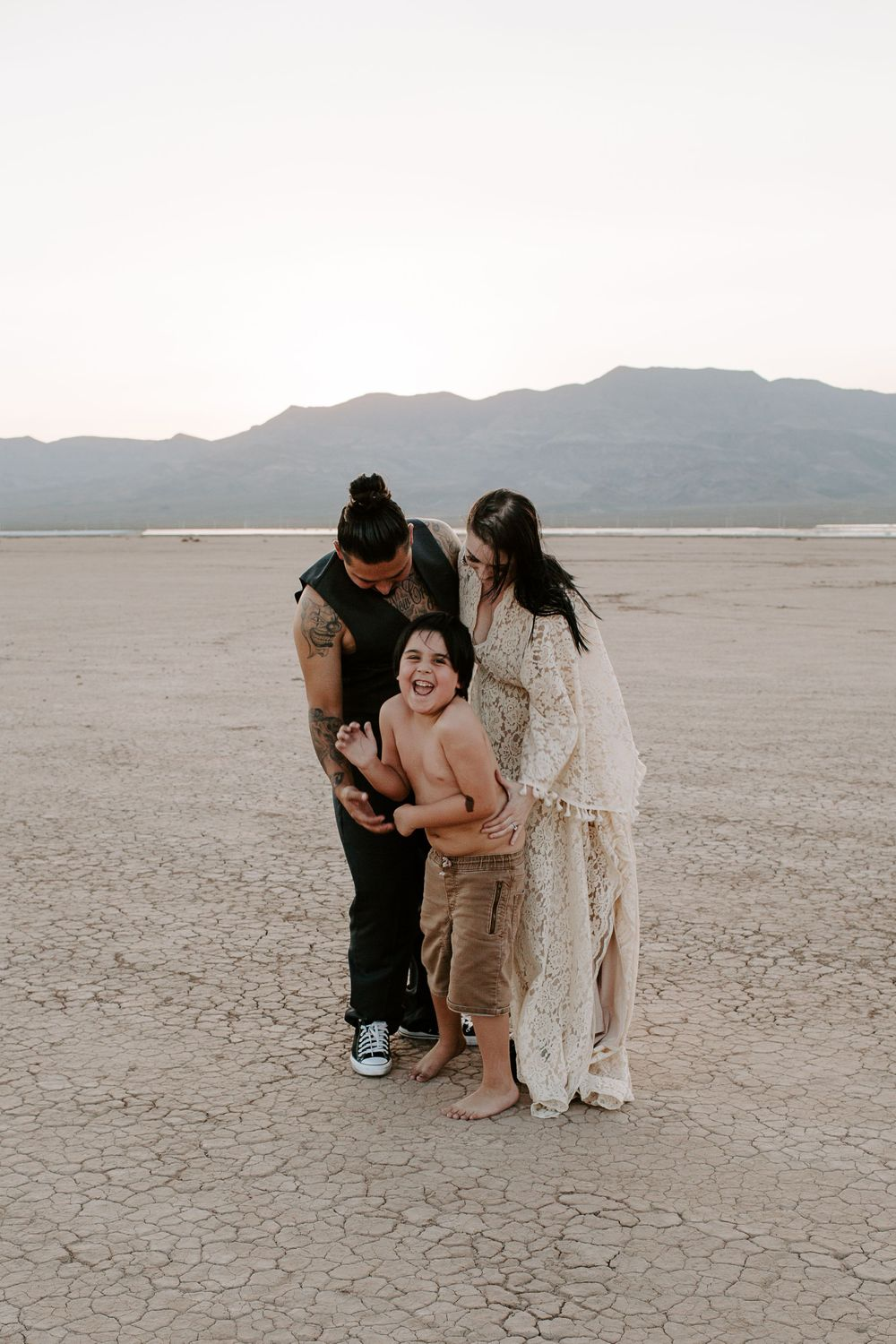 couple with their son in Nevada