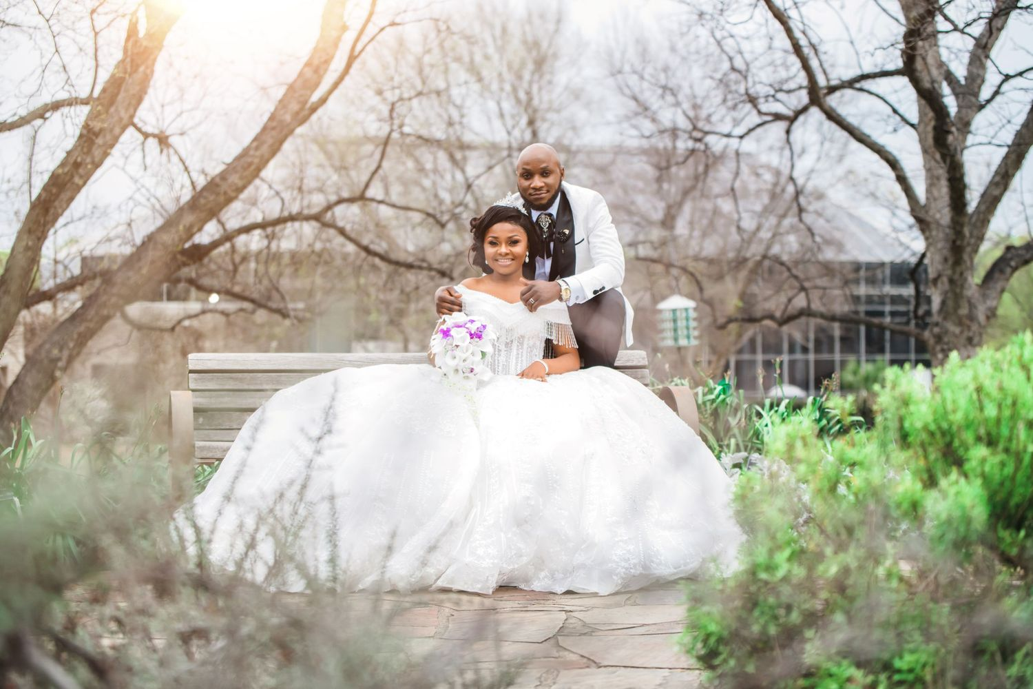 Wedding at Fort worth Botanic garden with Dallas wedding photographer