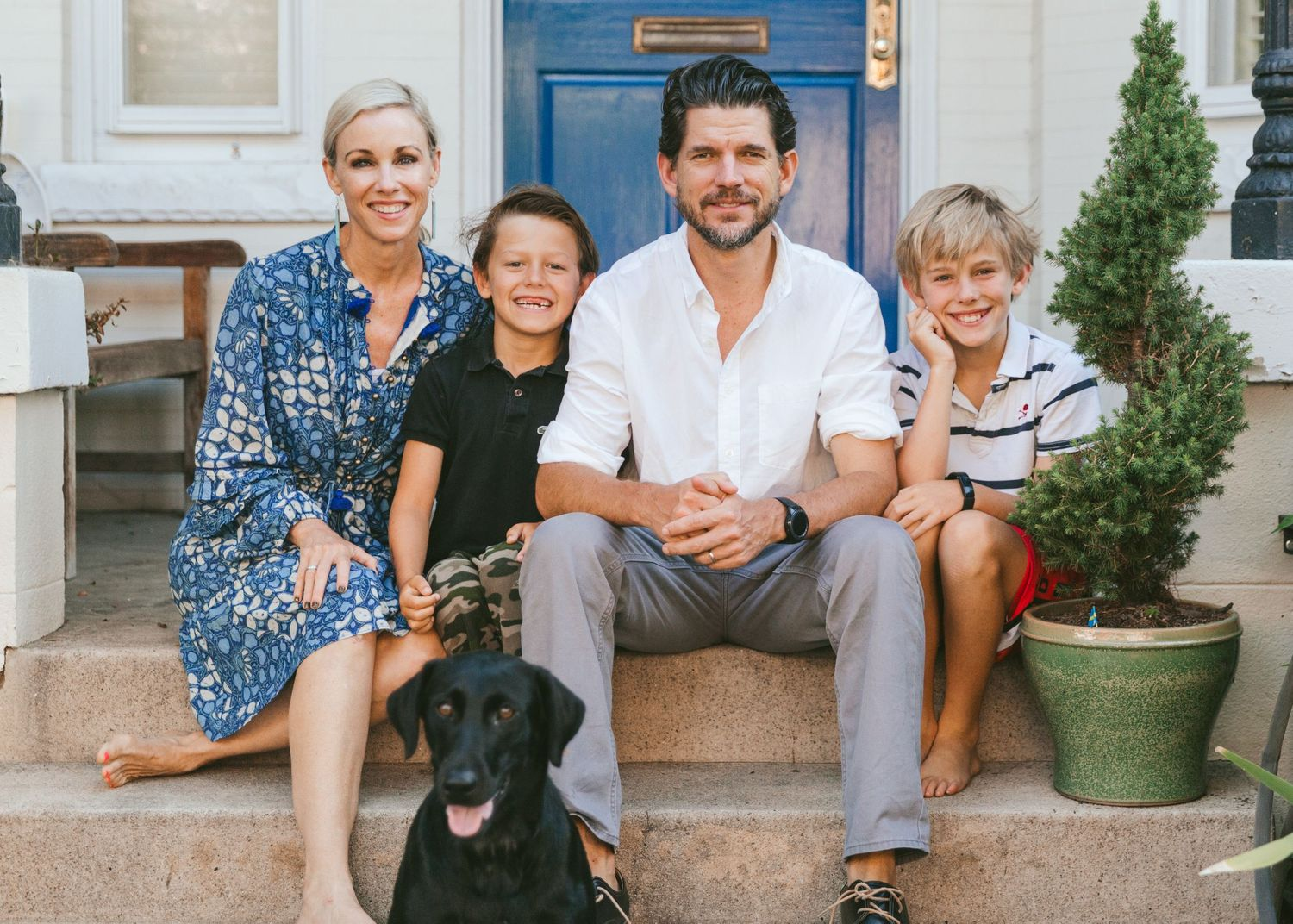 Richmond lifestyle family portrait photography Front Porch