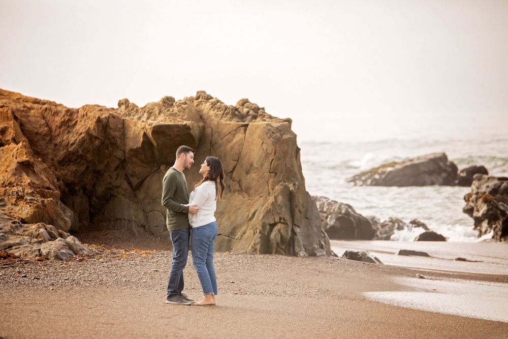 Couple dancing at Moonstone Beach