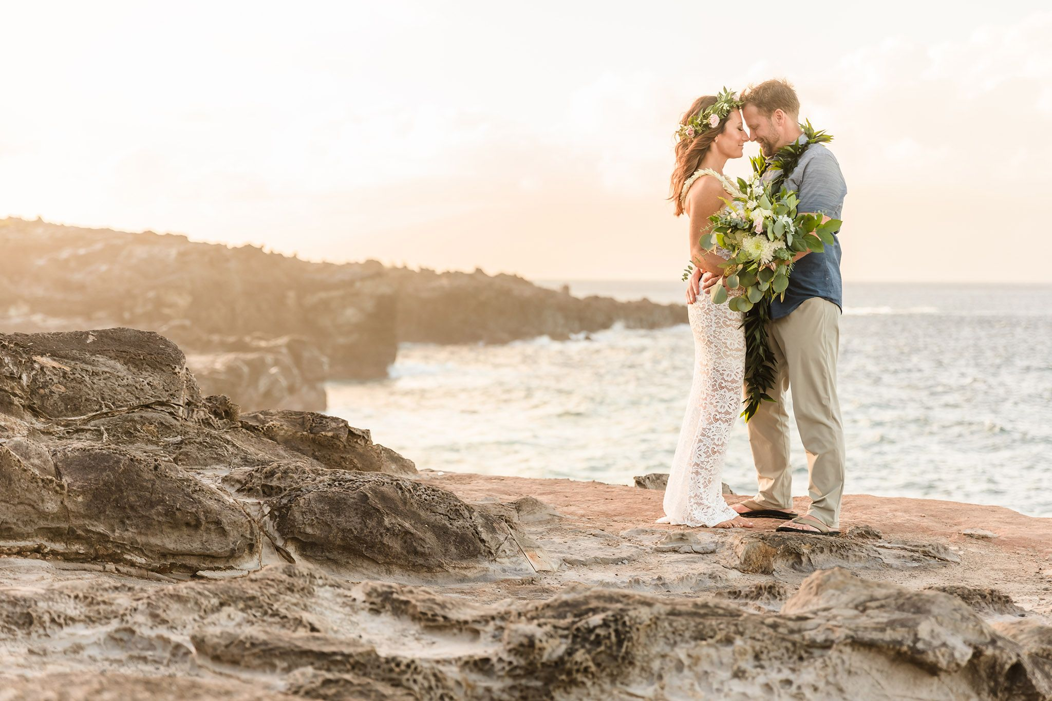 Kapalua cliffs wedding portraits