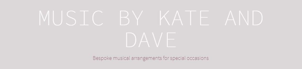 music by kate and dave wedding singers logo