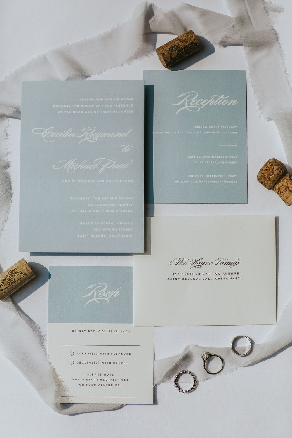 rebecca skidgel photography st helena napa valley wedding covid19 flat lay photo photography wedding invitations