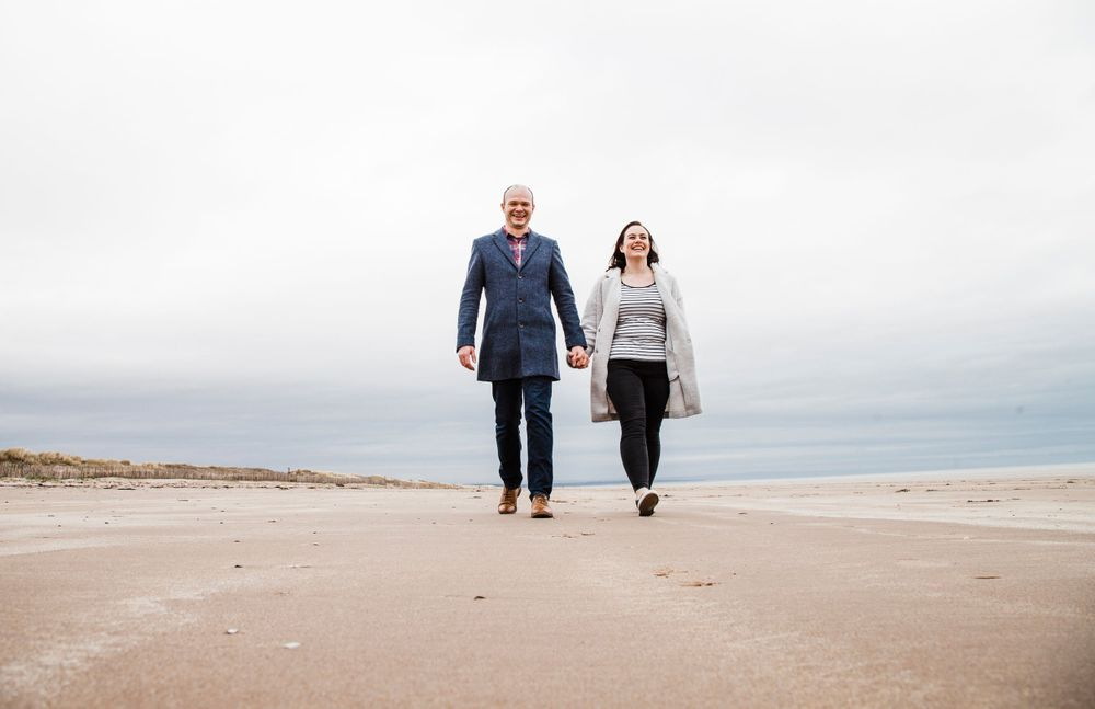 Couple Shoot St Andrews west sands Photography