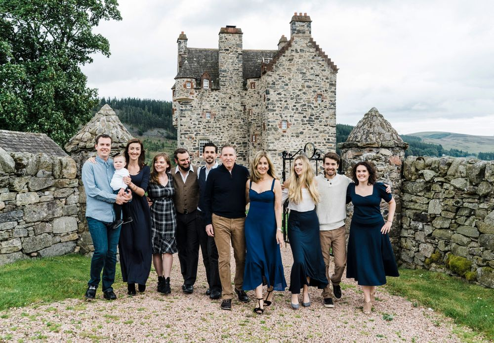 Vow renewal Scottish Forter Castle family Alyth