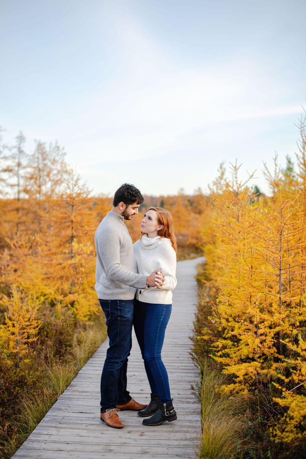 Ottawa Couples Photography - Couple cuddled looking at each other