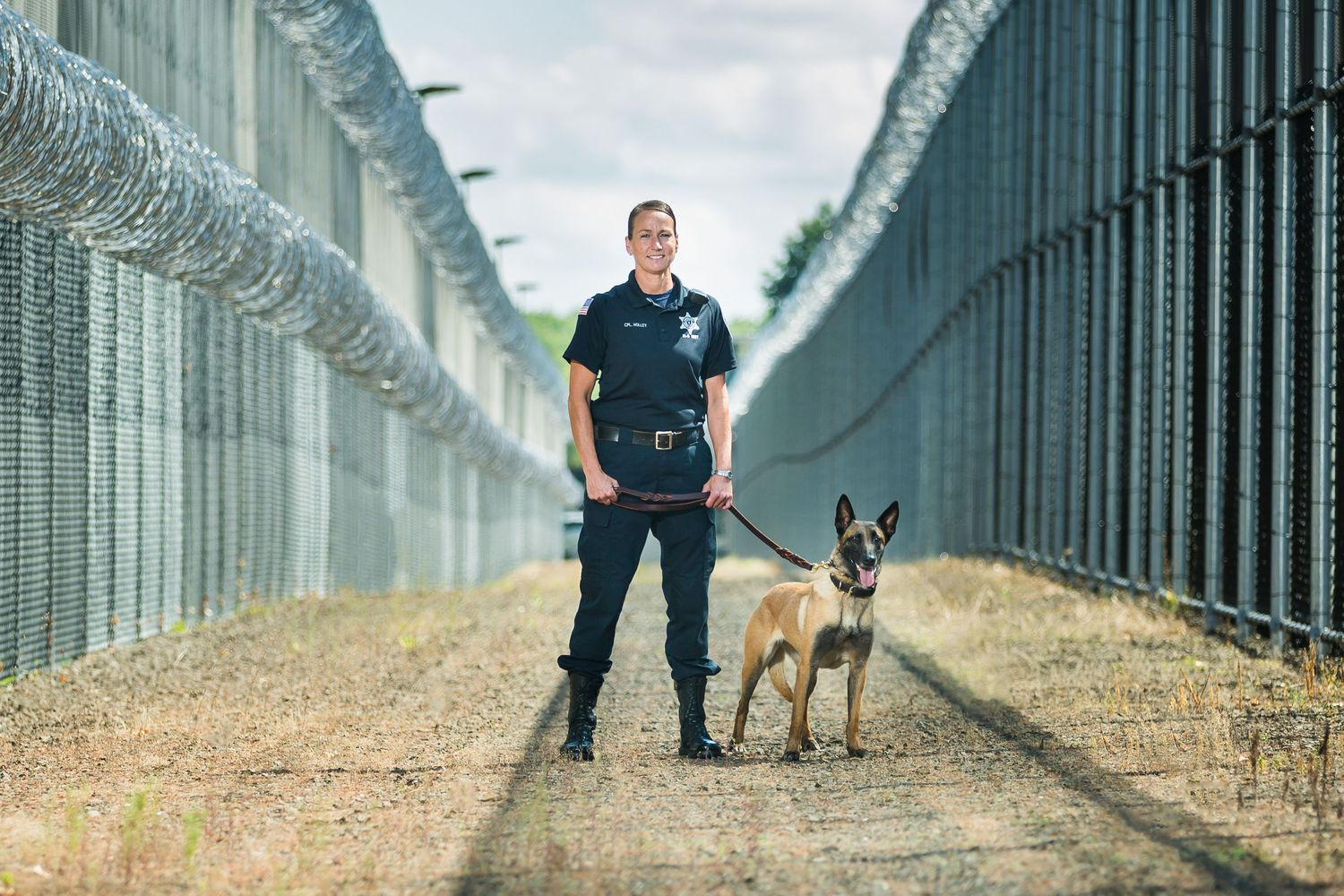 Correction Facility Police K-9 Hampden County Sheriff's Dept Female Handler Malinois
