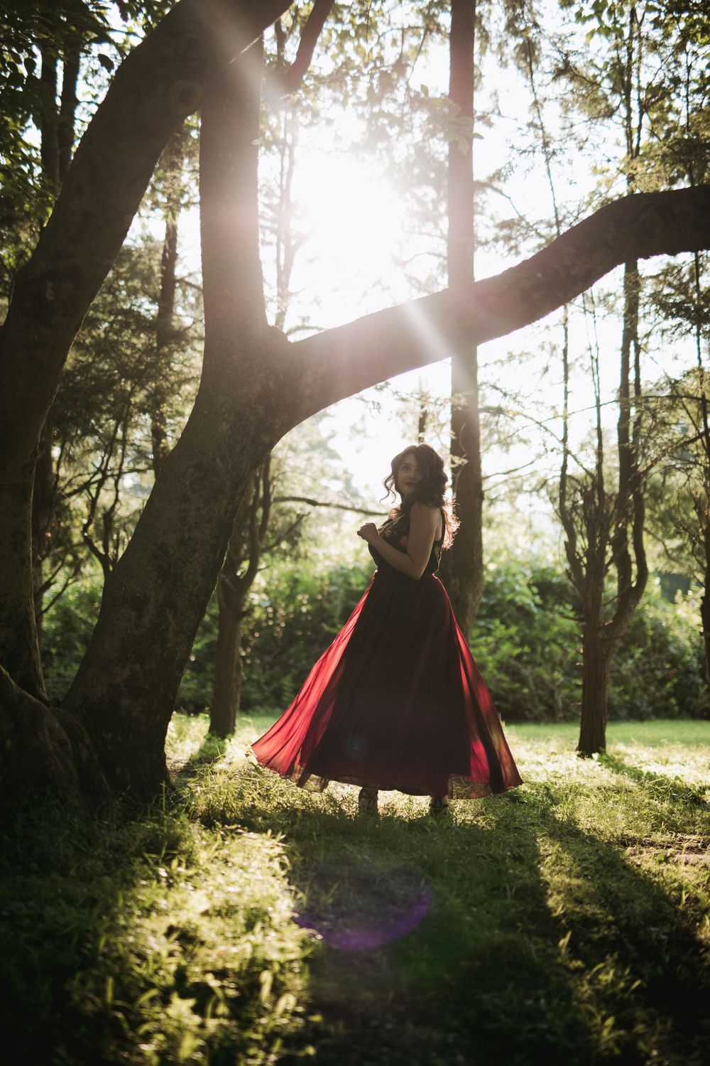 Ramapo College Engagement photos fairytale woodland