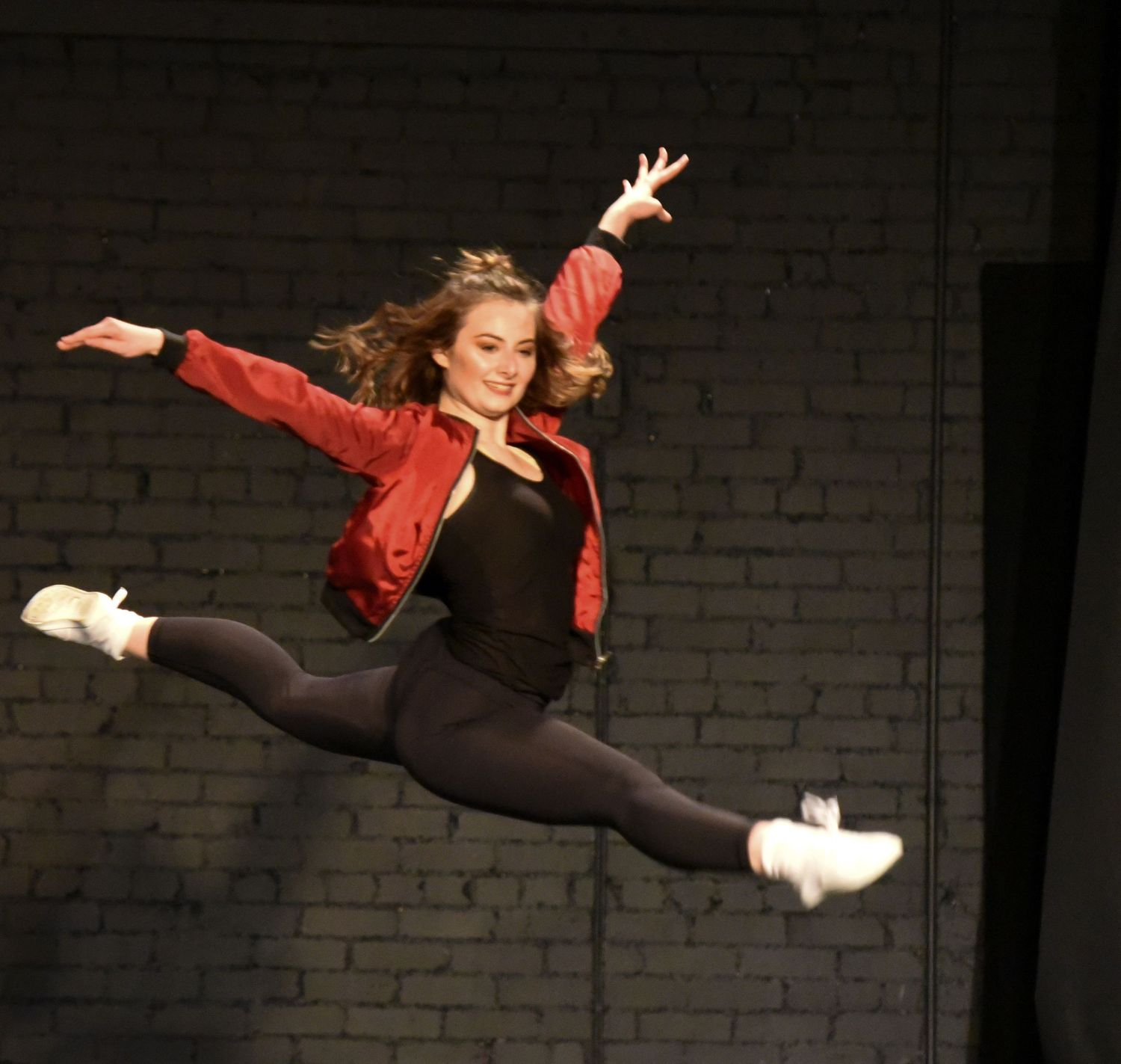 Dancer Leaping on stage