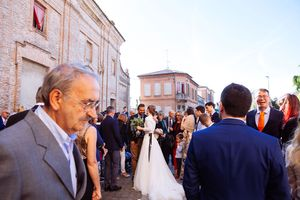 after Italian Catholic Church wedding ceremony
