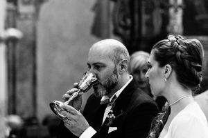 communion church wedding photography in Ferrara Italy by Italian destination wedding photographer