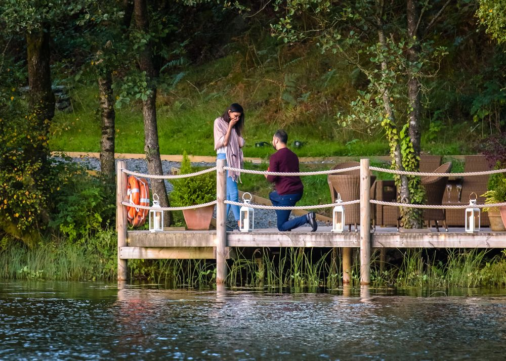 Secret proposal in Lake District near Windermere