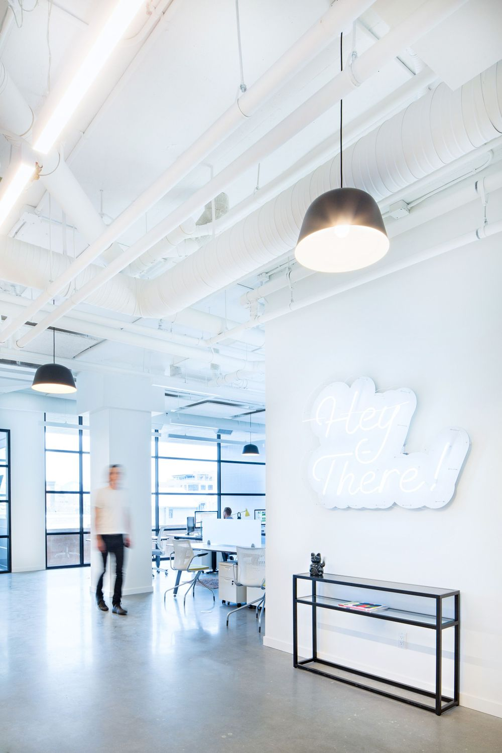 white industrial office
