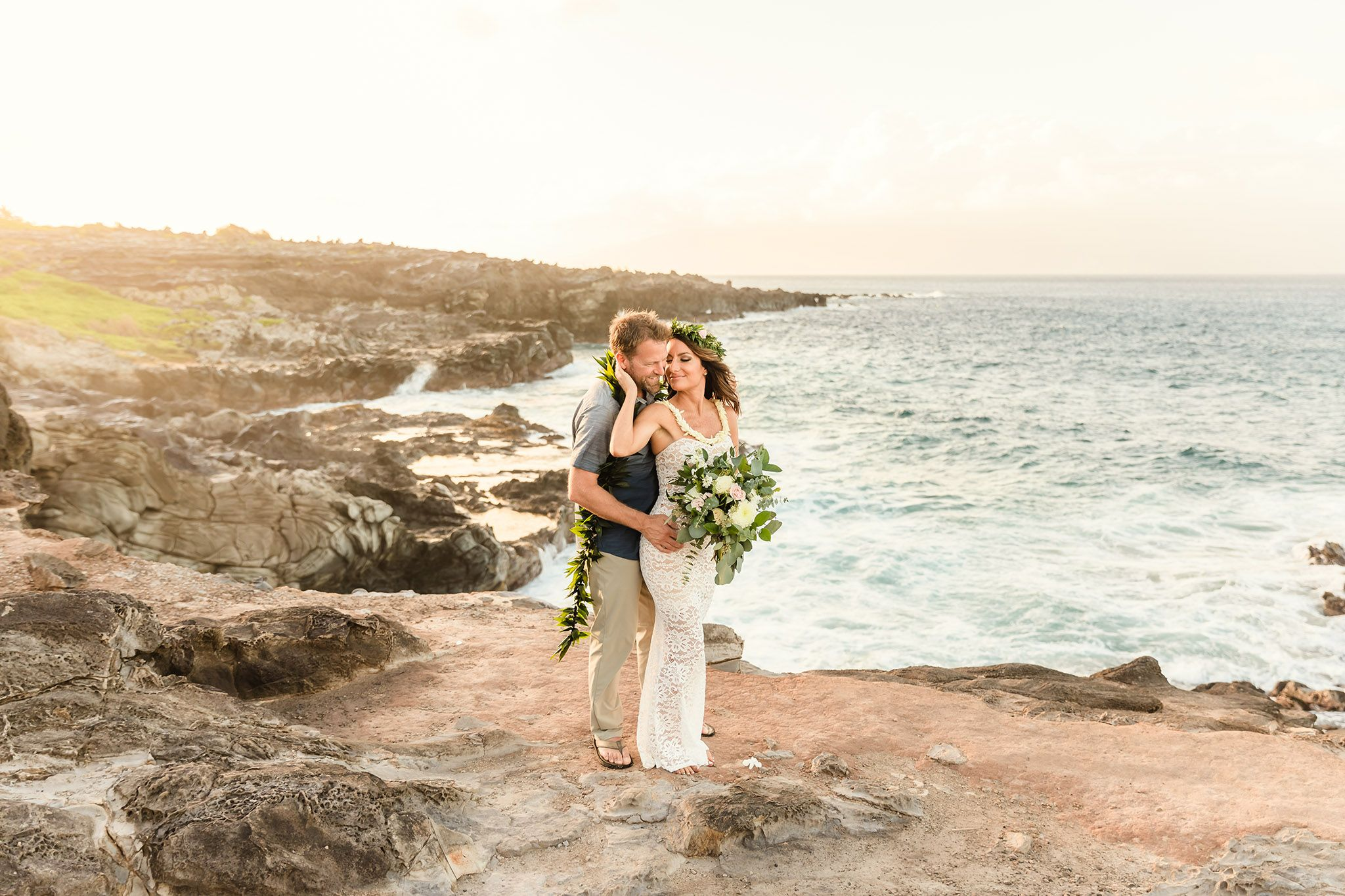 romantic wedding portraits maui hawaii