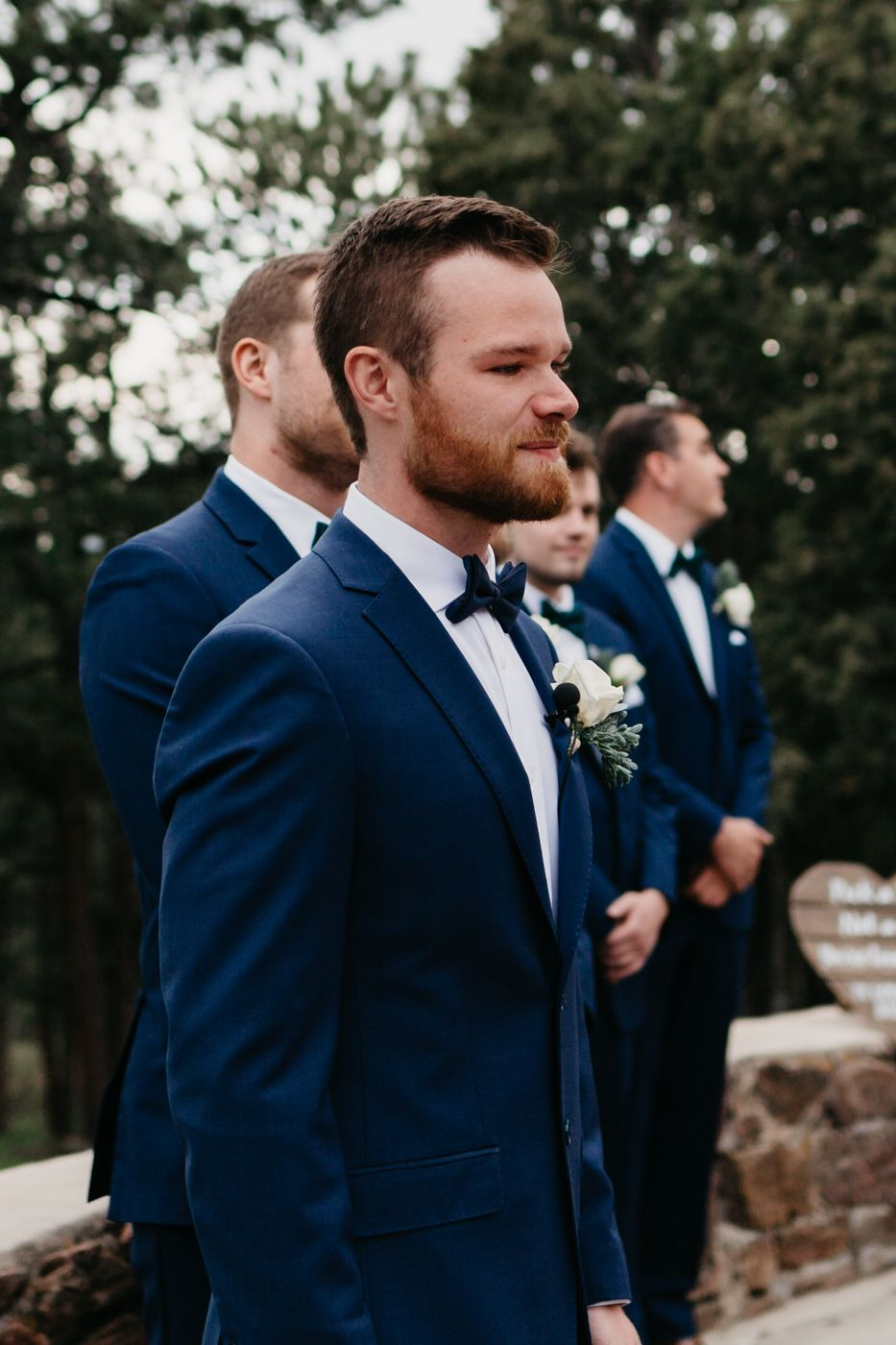 emotional portraits, groom, ceremony, colorado, mountain, wedding, golden, best colorado wedding, mansion, beautiful