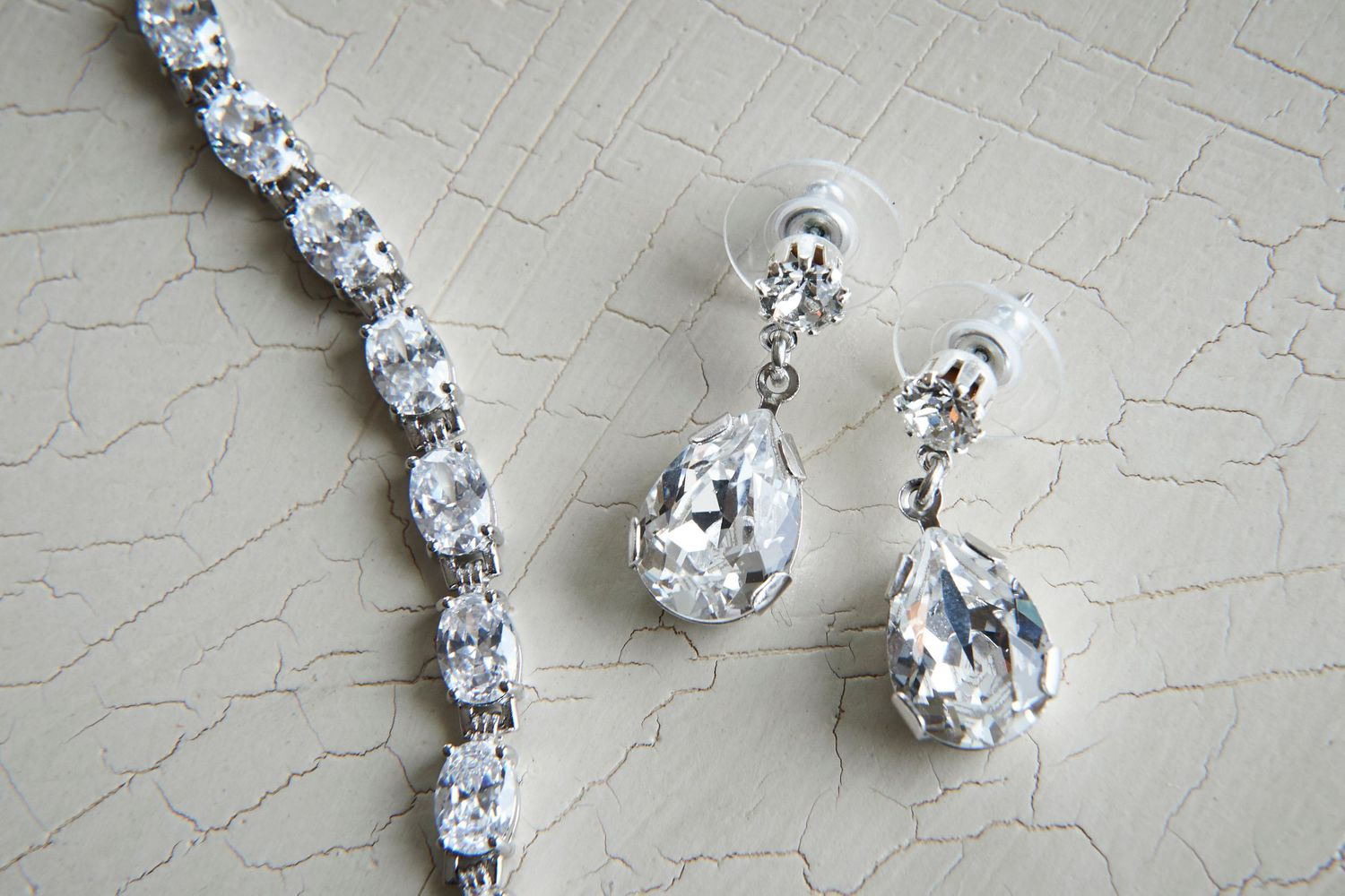 earrings and bracelet at Bonnet Island Estate