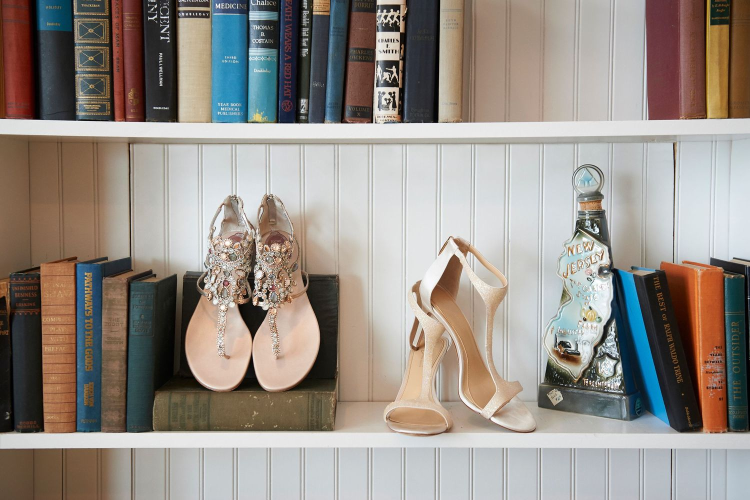 brides shoes at Bonnet Island Estate