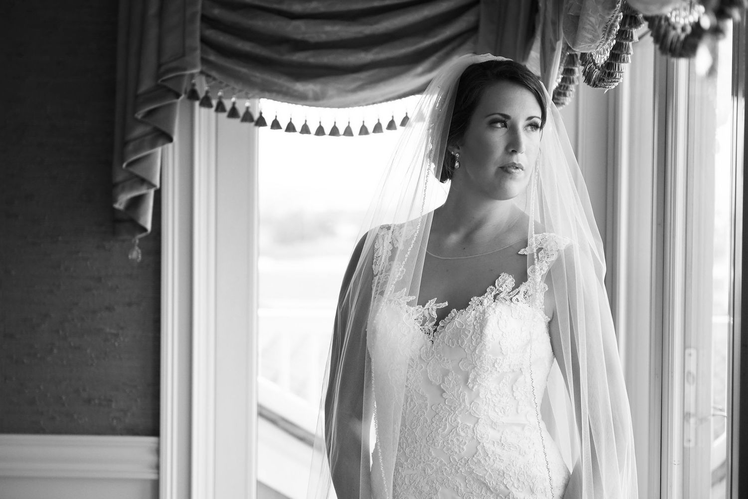 bridal portrait at Bonnet Island Estate