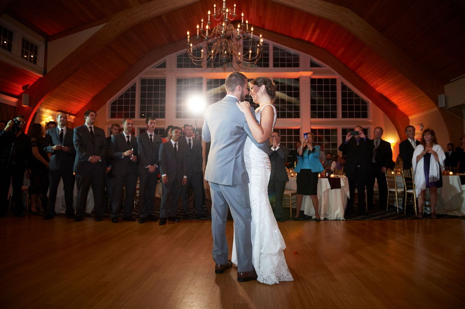 bride and groom first dance at Bonnet Island Estate