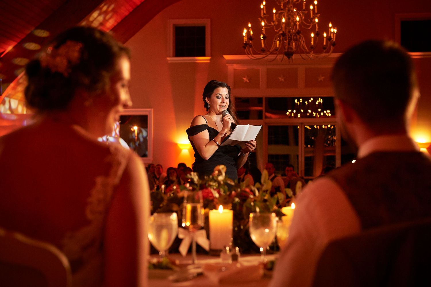 maid of honor speech at Bonnet Island Estate