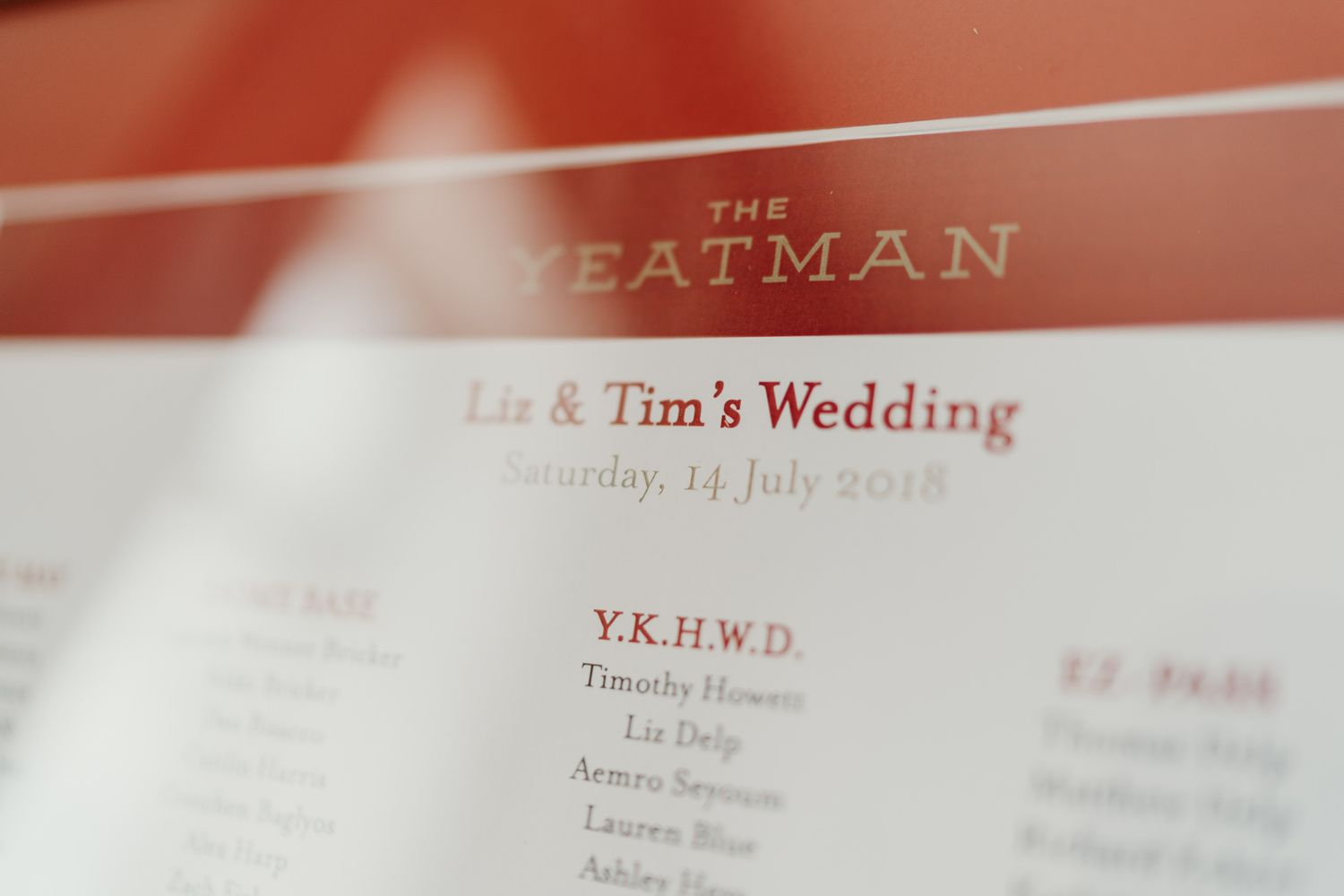 THE YEATMAN WEDDING PHOTOGRAPHY