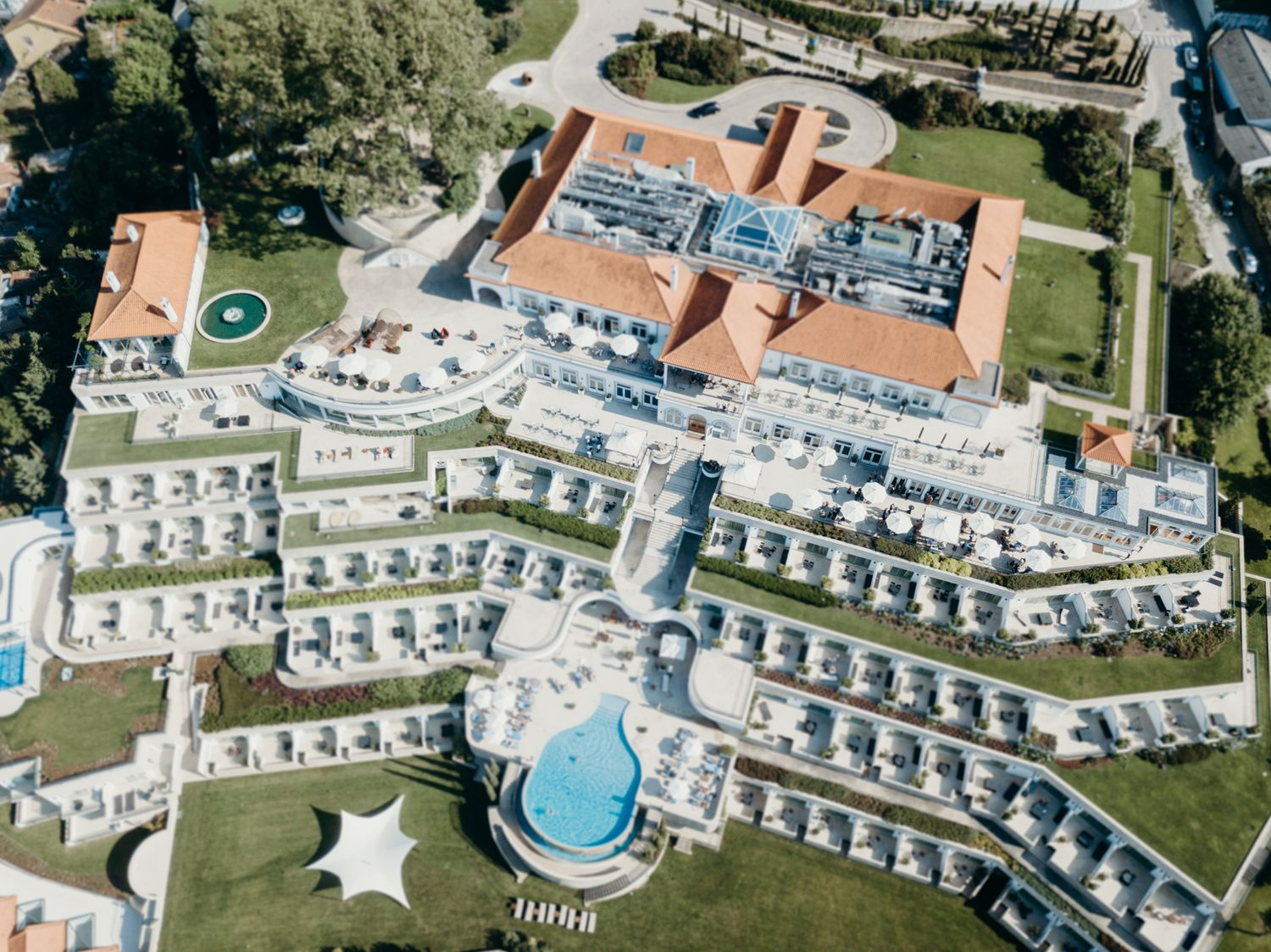 THE YEATMAN HOTEl drone WEDDING PHOTOGRAPHY