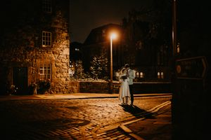 Edinburg wedding at night