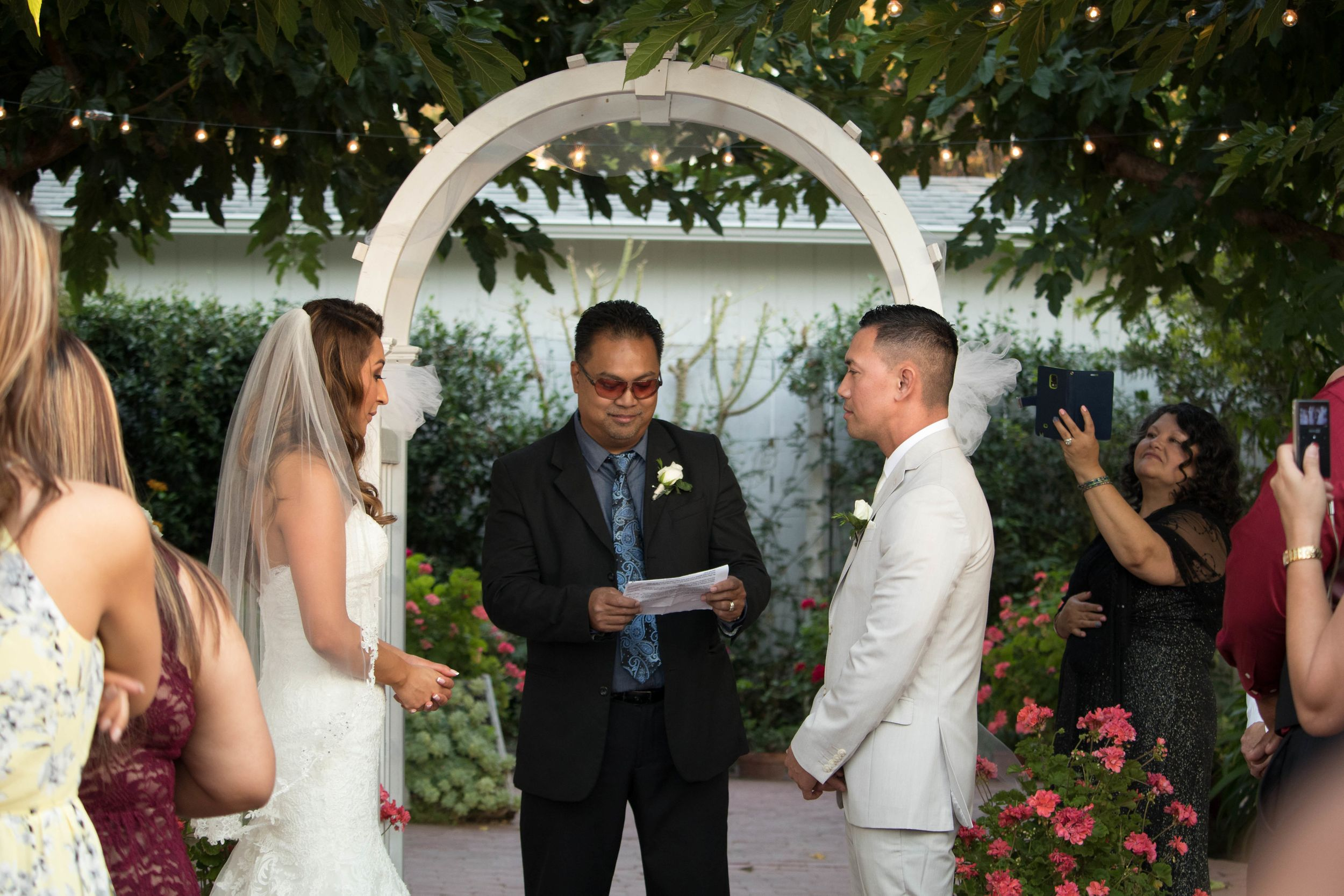 Wedding Photographer at Jardines San Juan in San Juan Bautista and Monterey, California