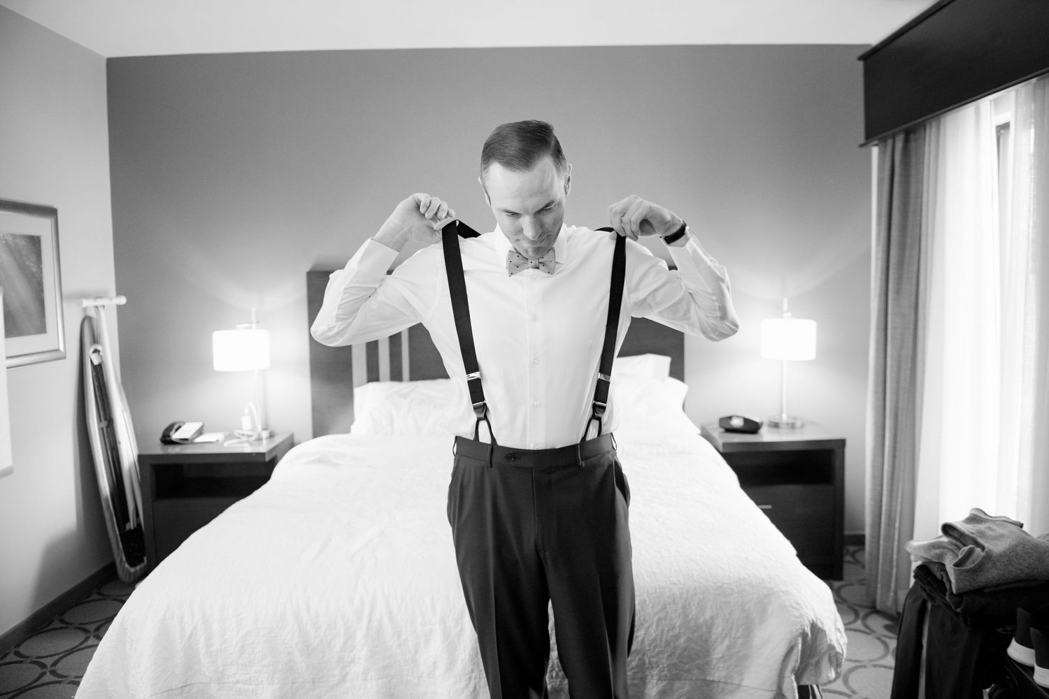 groom dressing before Pen Ryn Estate Wedding