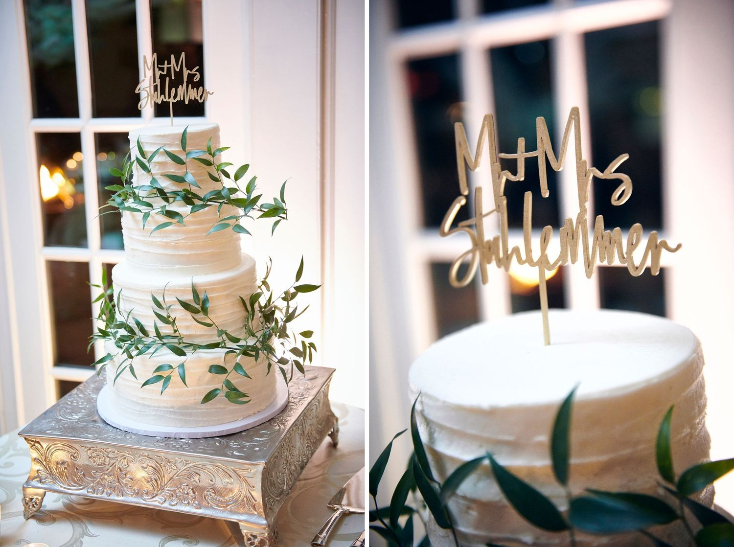 cake and cake topper at Belle Voir Manor