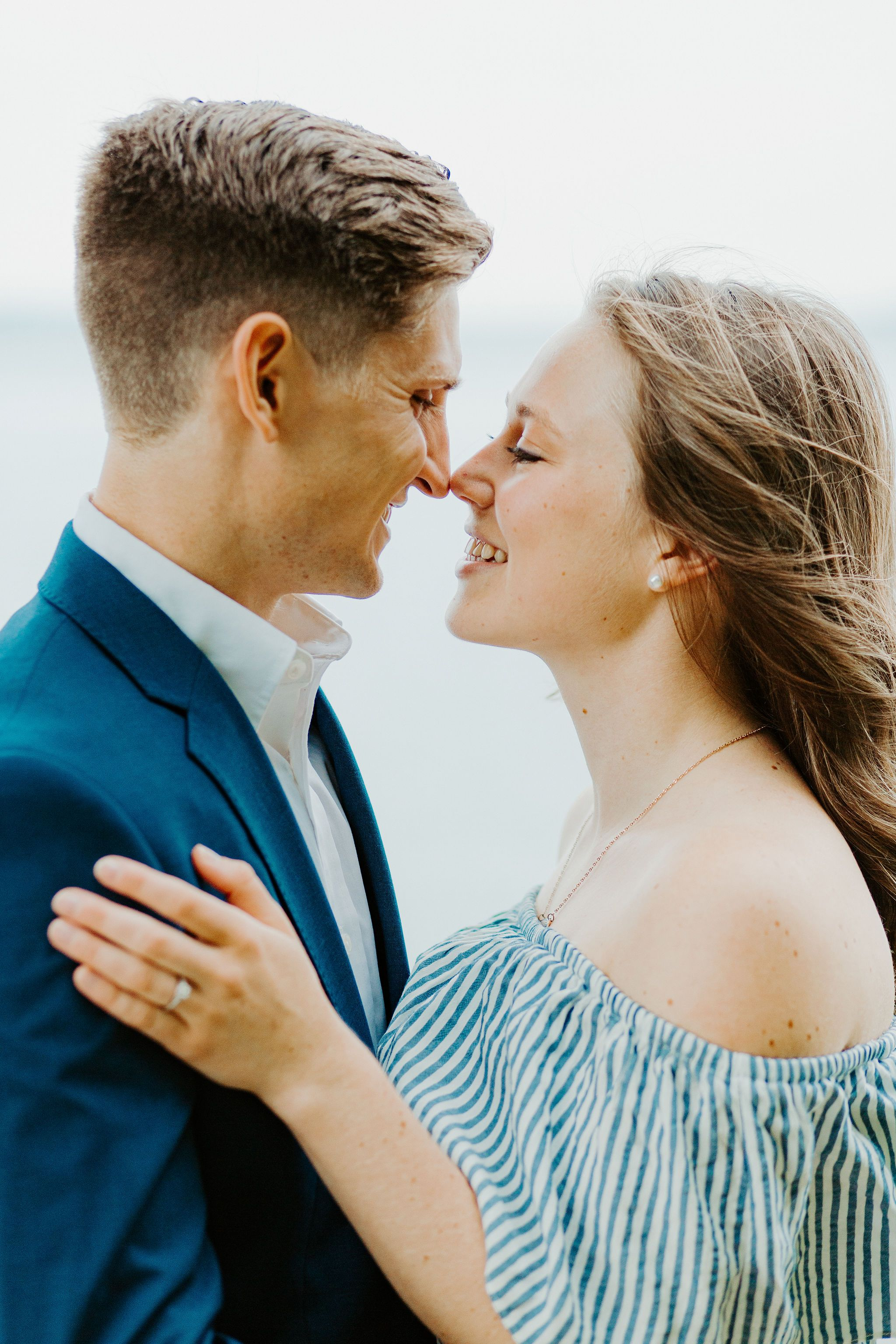 moody romantic engagement at long point state park katie graham photography traveling destination wedding photographer