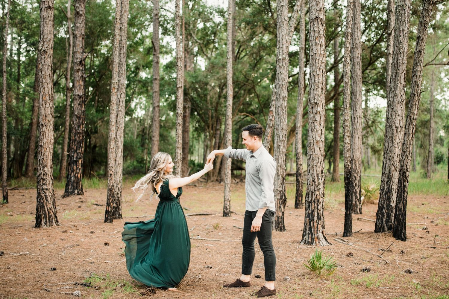 Engagement at a forest