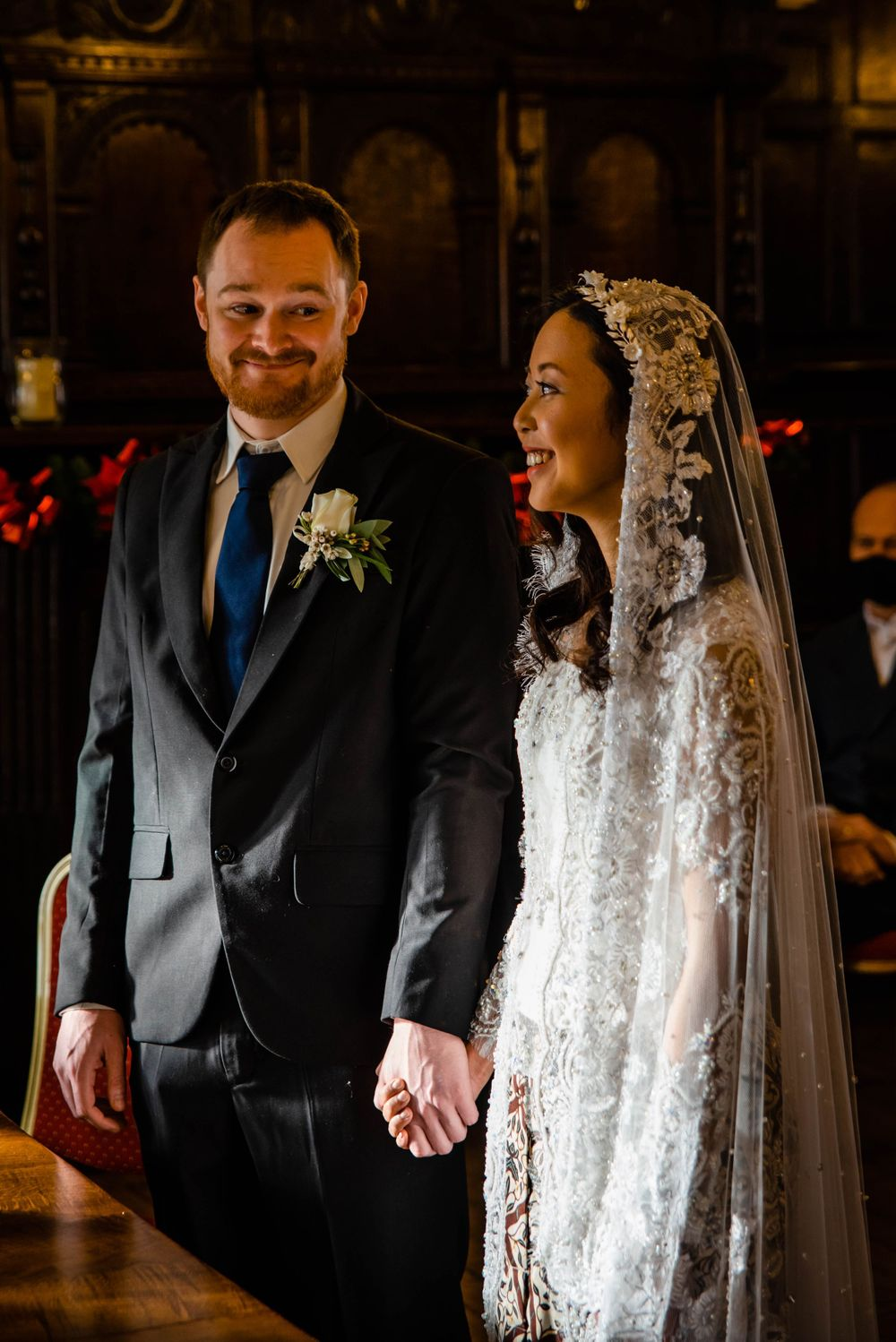 Cotswolds based Zara Davis Wedding Photography at Hereford Town Hall Herefordshire first look